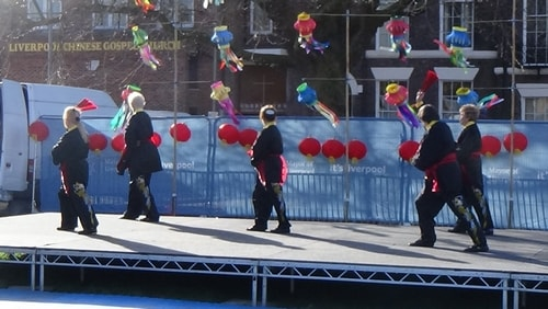 Chinese New Year Liverpool 2016 Tai Chi demonstration Great George Square 7th February 2016 photo 48