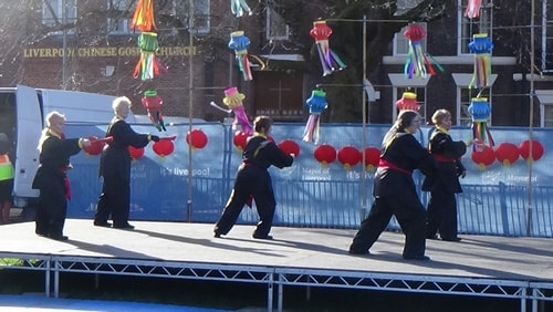 Chinese New Year Liverpool 2016 Tai Chi demonstration Great George Square 7th February 2016 photo 50