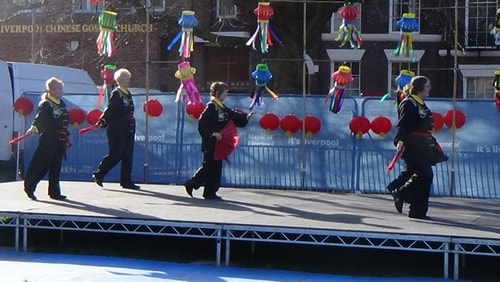 Chinese New Year Liverpool 2016 Tai Chi demonstration Great George Square 7th February 2016 photo 51