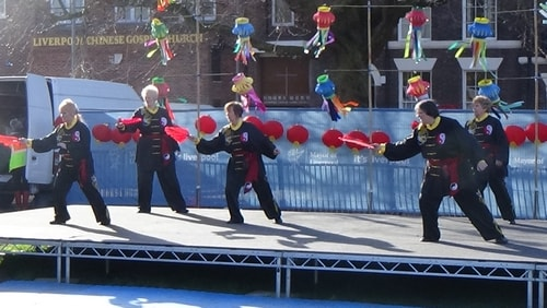 Chinese New Year Liverpool 2016 Tai Chi demonstration Great George Square 7th February 2016 photo 52