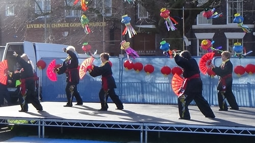 Chinese New Year Liverpool 2016 Tai Chi demonstration Great George Square 7th February 2016 photo 53