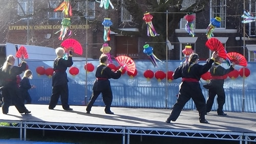 Chinese New Year Liverpool 2016 Tai Chi demonstration Great George Square 7th February 2016 photo 54