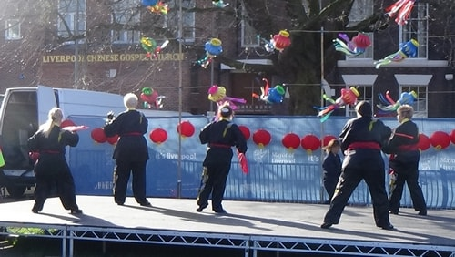 Chinese New Year Liverpool 2016 Tai Chi demonstration Great George Square 7th February 2016 photo 55