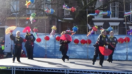 Chinese New Year Liverpool 2016 Tai Chi demonstration Great George Square 7th February 2016 photo 57