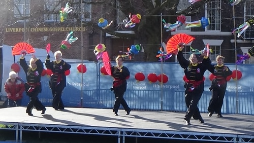 Chinese New Year Liverpool 2016 Tai Chi demonstration Great George Square 7th February 2016 photo 58