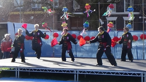 Chinese New Year Liverpool 2016 Tai Chi demonstration Great George Square 7th February 2016 photo 60
