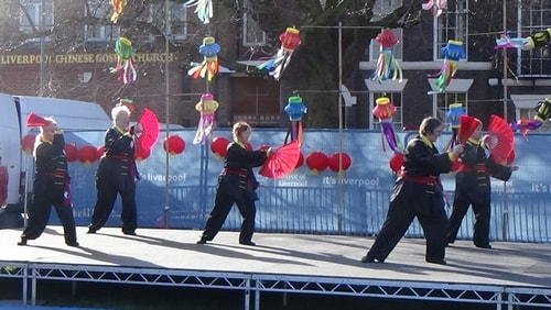 Chinese New Year Liverpool 2016 Tai Chi demonstration Great George Square 7th February 2016 photo 61