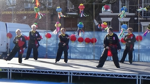 Chinese New Year Liverpool 2016 Tai Chi demonstration Great George Square 7th February 2016 photo 62