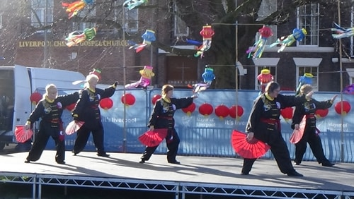 Chinese New Year Liverpool 2016 Tai Chi demonstration Great George Square 7th February 2016 photo 63