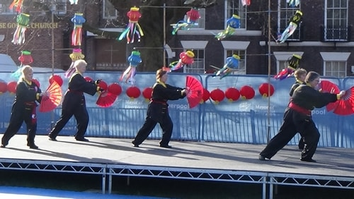 Chinese New Year Liverpool 2016 Tai Chi demonstration Great George Square 7th February 2016 photo 65