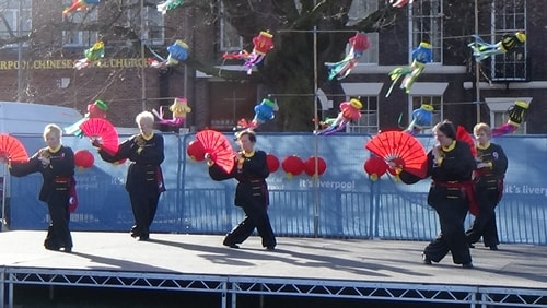 Chinese New Year Liverpool 2016 Tai Chi demonstration Great George Square 7th February 2016 photo 66