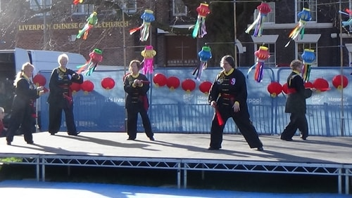 Chinese New Year Liverpool 2016 Tai Chi demonstration Great George Square 7th February 2016 photo 68
