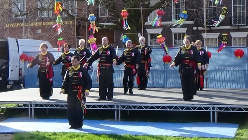 Chinese New Year Liverpool 2016 Tai Chi demonstration Great George Square 7th February 2016 photo 8