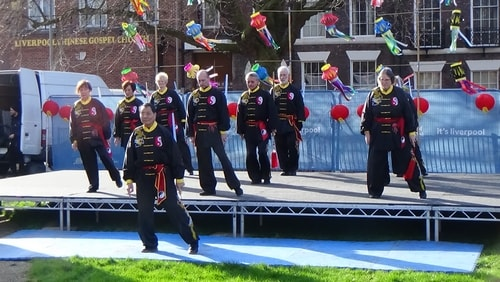 Chinese New Year Liverpool 2016 Tai Chi demonstration Great George Square 7th February 2016 photo 9