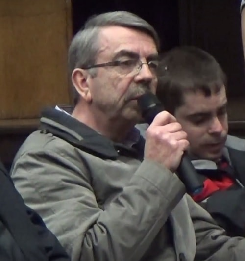 Member of public asking question at Wirral West Constituency Committee about Girtrell Court 11th February 2016