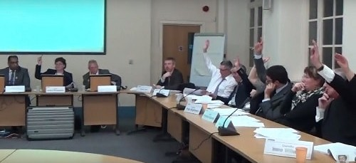 Why is a Labour councillor denying a vote took place on Girtrell Court?
