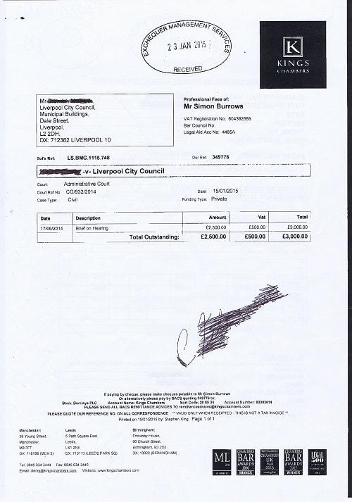 Kings Chamber invoice £3000 Liverpool City Council Simon Burrows thumbnail