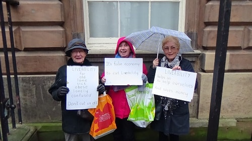 Protest before Liverpool City Council meeting about Liveability photo 1 of 2 resized
