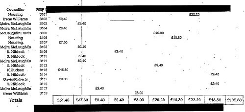 Eye Cab taxi invoice Wirral Council councillors