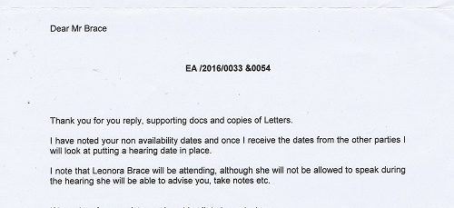 Letter from Tribunal 21st April 2016 EA/2016/0033