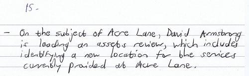 EA/2016/0033 item 15 (Headteachers'/Teachers' Joint Consultative Committee) Acre Lane & David Armstrong