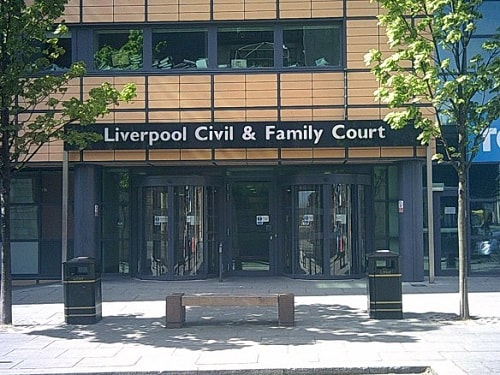 Liverpool Civil & Family Court, Vernon Street, Liverpool, L2 2BX (where the hearing for First-Tier Tribunal case EA/2017/0108 would have been held) which was cancelled and transferred to the Upper Tribunal (Administrative Appeals Chamber) in London