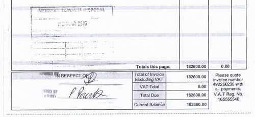 What are 10 invoices paid by Merseyside Recycling and Waste Authority totalling £4,758,470.23 for?