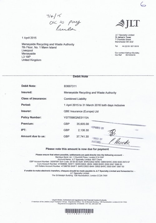 7 JLT Speciality Limited £37741.30 Comined Liability Insurance Page 1 of 1