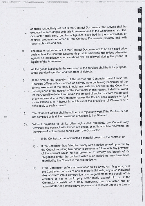 Wirral Council litter enforcement contract Kingdom Security Ltd contract terms and conditions page 2 of 13