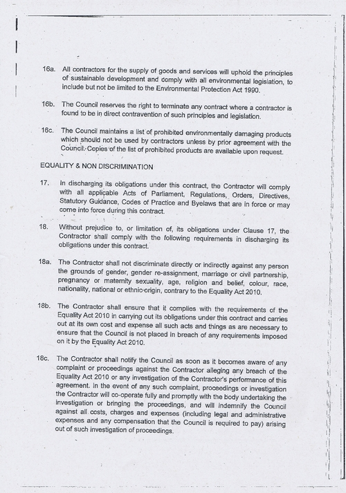Wirral Council litter enforcement contract Kingdom Security Ltd contract terms and conditions page 5 of 13