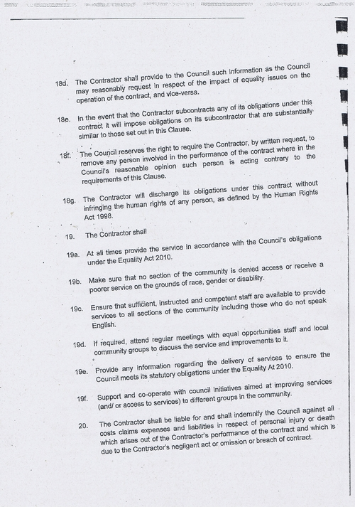Wirral Council litter enforcement contract Kingdom Security Ltd contract terms and conditions page 6 of 13