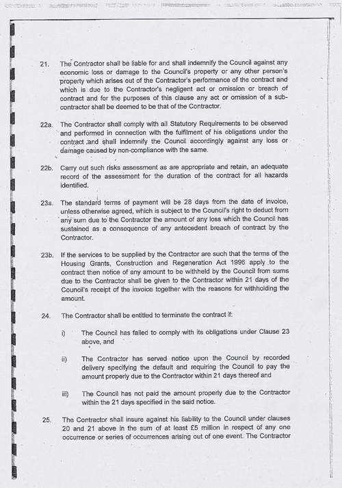 Wirral Council litter enforcement contract Kingdom Security Ltd contract terms and conditions page 7 of 13
