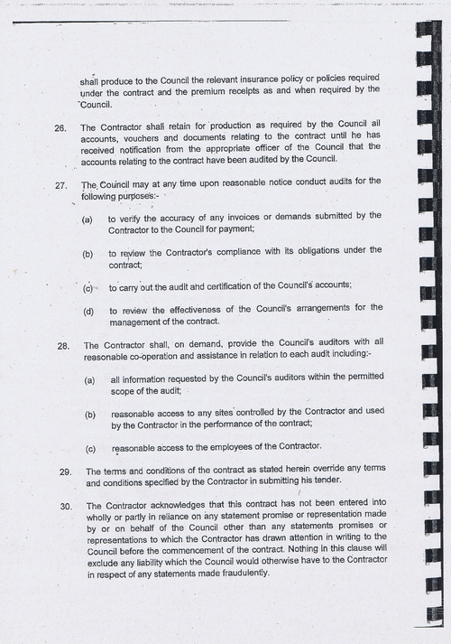 Wirral Council litter enforcement contract Kingdom Security Ltd contract terms and conditions page 8 of 13