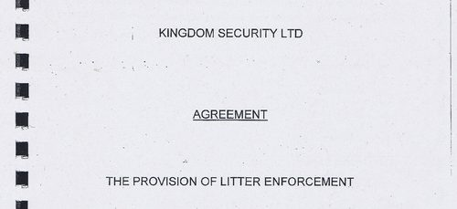 Wirral Council litter enforcement contract Kingdom Security Ltd cover page 1