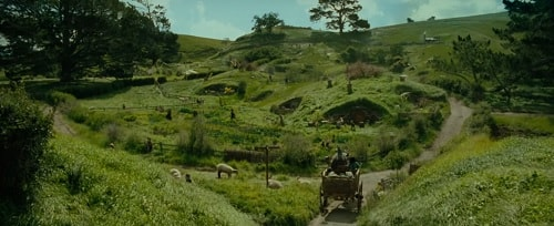 The Shire in the Lord of the Rings as imagined in the film