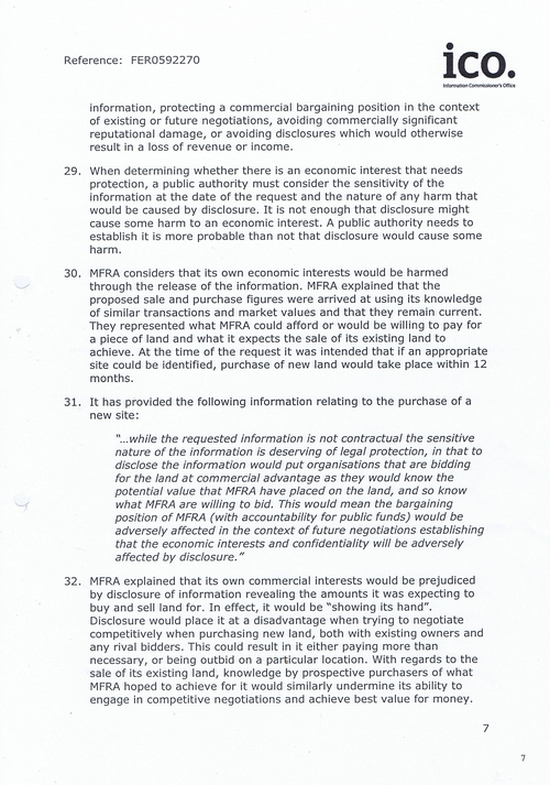 EA 2016 0054 First-tier Tribunal bundle Page 7 ICO Decision Notice FER0592270