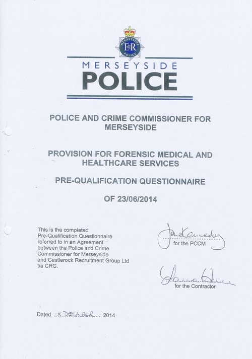 contract Police and Crime Commissioner for Merseyside and Castlerock Recruitment Group LTD t a CRG 4
