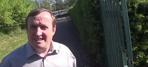 Councillor Stuart Kelly (Counting Agent - Claughton) 5th May 2017 outside Wirral Tennis and Sports Centre