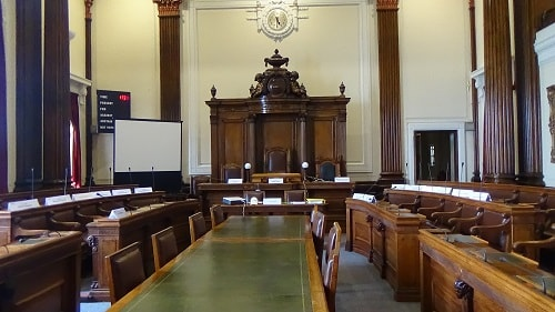 Council Chamber (Wallasey Town Hall) 1st June 2017 - Does the councillor complained about sit on one of these seats?