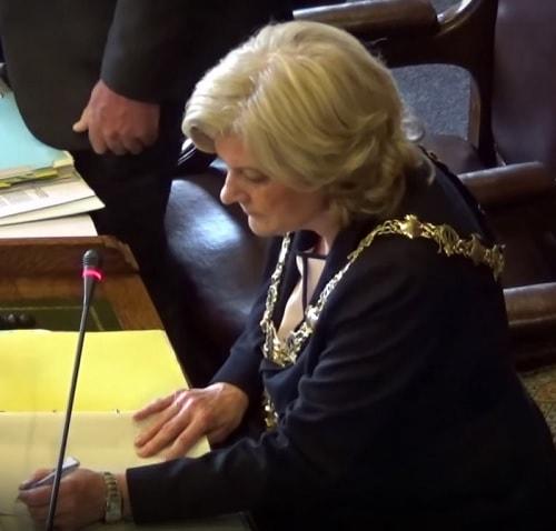Mayor Cllr Ann McLachlan , Council (Wirral Council) 10th July 2017