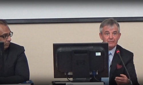 Councillor Mike Sullivan (right) (Chair, Business Overview and Scrutiny Committee) 7th December 2016