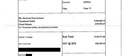 Matrix SCM invoice Wirral Council IN15346 £174,926.02