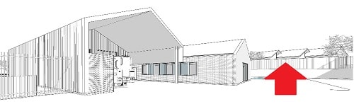 Saughall Massie fire station drawing