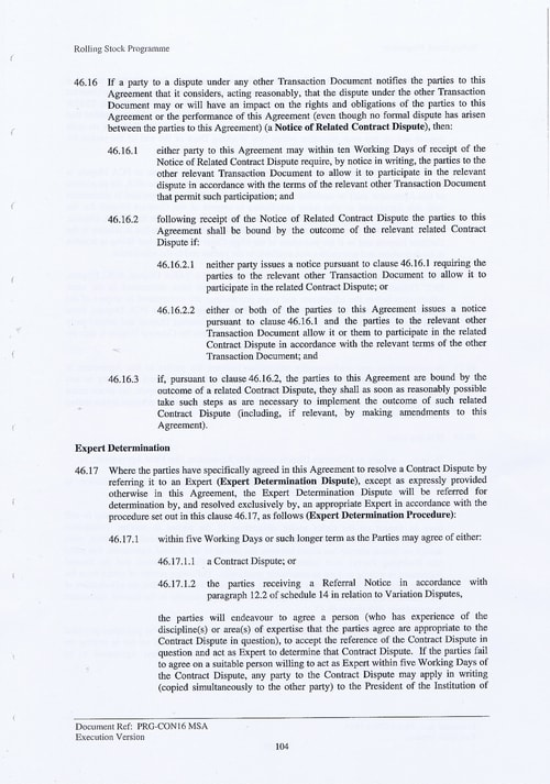 117 Contract PRG CON16 MSA Page 104