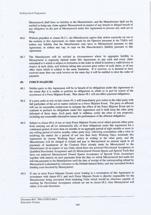 122 Contract PRG CON16 MSA Page 109