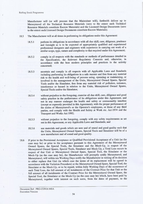 67 Contract PRG CON16 MSA Page 54