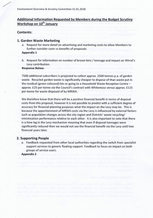 Budget Scrutiny Workshop Page 1 of 16 Briefing Note Garden Waste Marketing Wirral Council 2018-2019