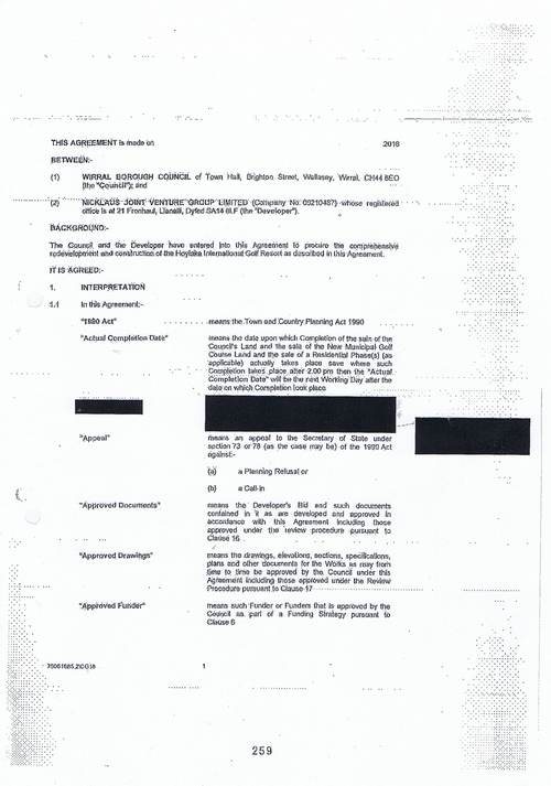 Hoylake Golf Resort contract Page 1 of 93