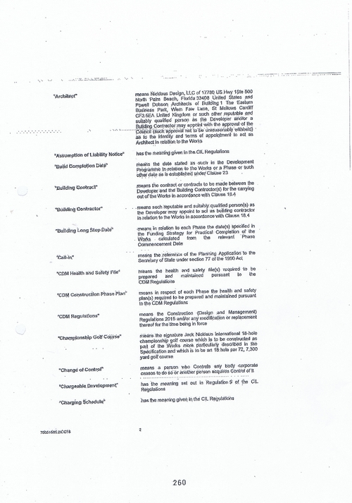 Hoylake Golf Resort contract Page 2 of 93