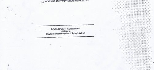 What's in Wirral Council's 96 page Hoylake Golf Resort contract?